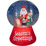 Gemmy Airblown Inflatables Christmas Inflatable Snowglobe with Glimmer LED Santa Scene, 5.5'