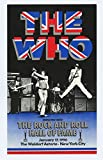 The WHO 1990 Jan 27 The Rock and Roll Hall of Fame Induction handbill