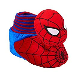 Marvel Comics Toddler Boys Spiderman Slippers Sock Top Character House Shoes