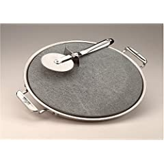 All-Clad 00280 Stainless Steel Serving Tray with 13-inch Pizza-Baker Stone Insert and... by All-Clad