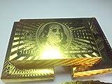 Amazon.co.jpゴールド プラチナ トランプ プレイング カード (ゴールド100ドル)