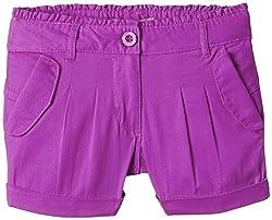 Nauti Nati Girls' Shorts (NSS15-454_Purple_7 - 8 years)