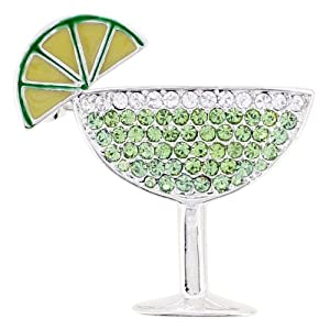 Green Margarita Glass Brooch/Pendant (Chain Not Included)