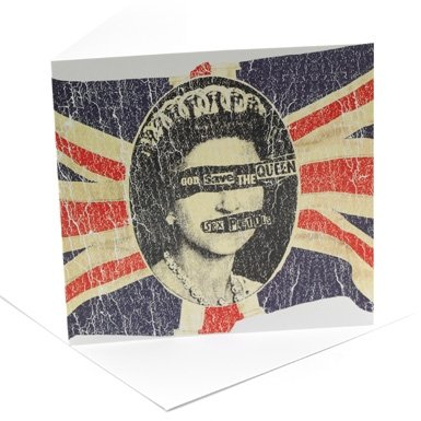 Sex Pistols 'Queen' Single Greeting Card