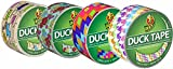 Duck Brand Duct Tape Set, Assorted Colors and Printed Patterns, Set of 4 rolls