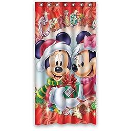 Classic Mickey Mouse Cartoon Movie Bathroom Shower Curtain 36\
