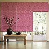 Presto Bazaar Pink Jacquard Window Blind (48 Inch X 44 Inch)