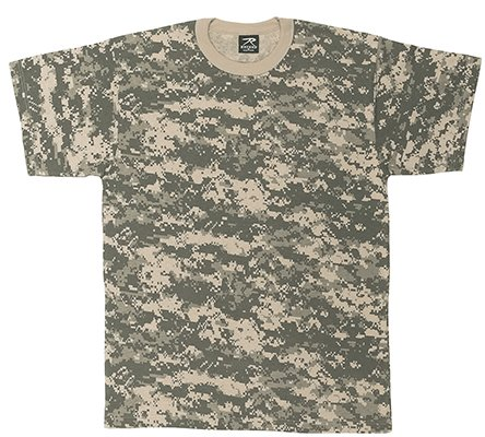 Short Sleeve Digital Camouflage T-Shirt