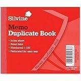 Silvine Duplicate Book Memo Ruled Feint 1-100 102x127mm Ref 603 [Pack of 12]