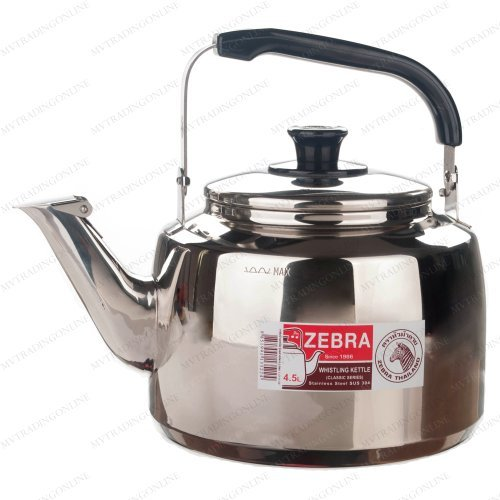 Stainless Steel Whistling Tea Pot X-Large (Zebra Teapot compare prices)