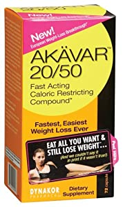 Akavar 20/50-Fast Acting Caloric Restricting Compound, 72 Capsules