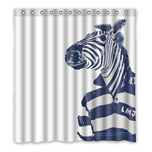 """Stile minimalista Avantgarde elementi The Zebra indossare camicia di POLO il colore di sfondo è bianco disegno Tende doccia 100% Poliestere tessuti Impermeabile bagno tende 167 cm x183 cm (66 """"x72"""")"""