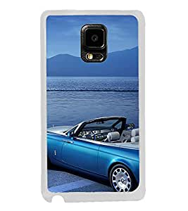 ifasho Long Car in beach Back Case Cover for Samsung Galaxy Note 4 Edge