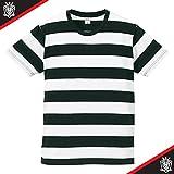 (ユナイテッドアスレ)UnitedAthle 5.0オンス ボールドボーダー 半袖Tシャツ 551801 [メンズ] 2001 ブラック/ホワイト L