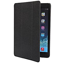 HOKO Black Sparkle pu Leather Flip Smart Cover Case for Apple iPad Mini 2 (Auto wake and sleep)