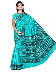 Somya Women's Bhagalpuri Silk Varli Print Saree
