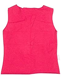 Wild Mango - Little Girls Ribbed Sleeveless Top, Red, Pink,White 7689-3T