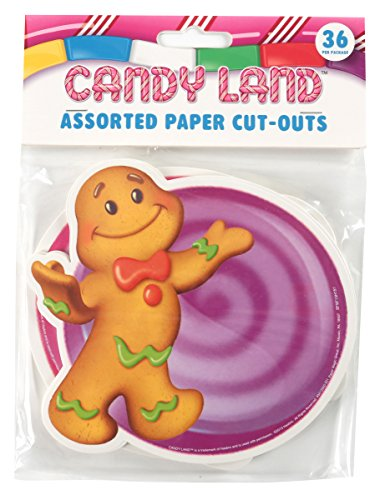 Eureka Candy Land Assorted Paper Cut-Outs, 12 Each of 3 Different Designs, 36-Piece - 1