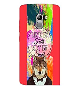 PrintDhaba Quote D-4220 Back Case Cover for LENOVO VIBE X3 c78 (Multi-Coloured)