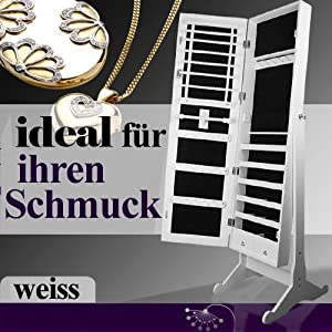 q3 schmuckschrank bijoux spiegelschrank schmuckschatulle aufbewahrung schmuck standspiegel. Black Bedroom Furniture Sets. Home Design Ideas