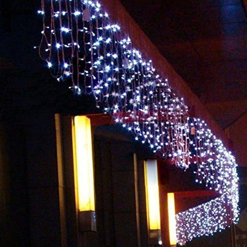 Renna con la slitta illuminata luce della corda 13 m di lunghezza addobbi e - Casa guirlande lumineuse ...