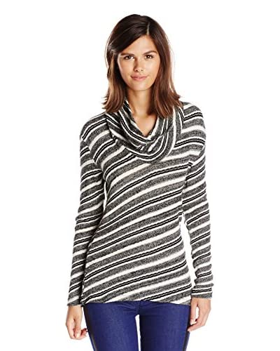 Three Dots Women's Fitted Cowl Neck Top