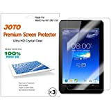 JOTO Premium Ultra Clear Screen Protector Film for ASUS MeMO Pad HD 7-Inch Tablet - Lifetime Replacement Warranty (3 Pack)