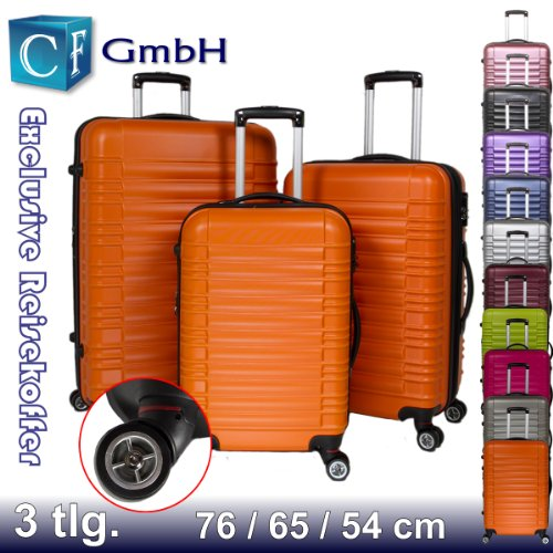 Orangen 3 tlg. LG2088 Reisekofferset Koffer Kofferset