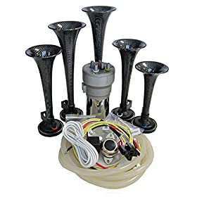 Dixie Air Horn Carbon Fiber Look - Dixieland Premium Full 12 Note Version with Installation Wire Kit and Button