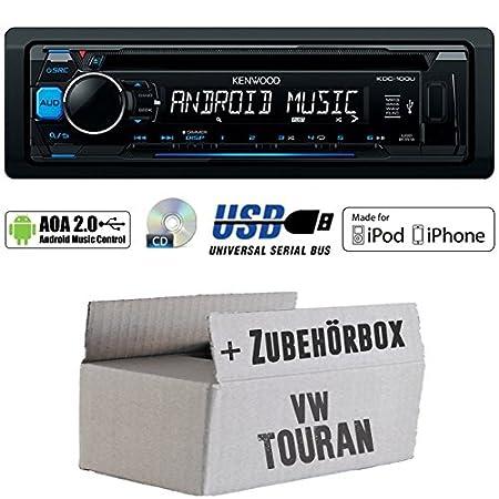 VW Touran-Kenwood-100ub-CD/MP3/USB/iPod Android Commande Autoradio-Kit de montage
