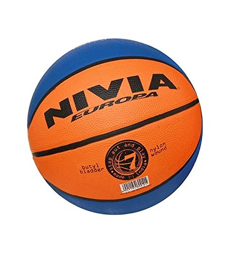 Nivia Slam Bengaluru Basketball, Size 1 (Orange/Blue)