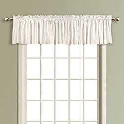 American Curtain and Home Kathryn Straight Window Treatment Valance, 54-Inch by 16-Inch, White