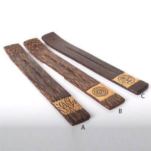 Soporte barritas de incienso madera rectangular, 3 modelos (4x26) - B