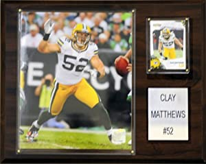 NFL Clay Matthews Green Bay Packers Player Plaque by Topps