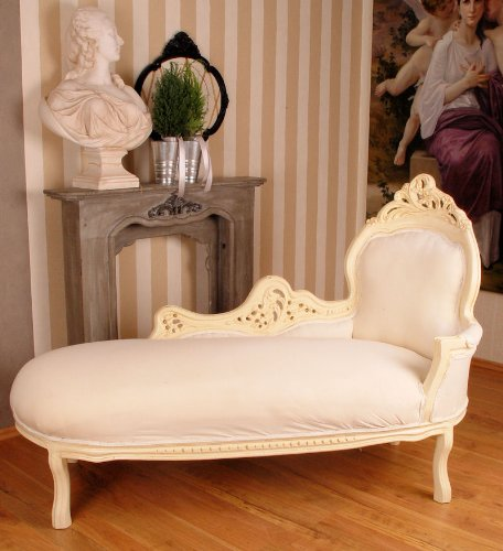 GIGANTISCHES VINTAGE SOFA CHAISELONGUE RECAMIERE SHABBY CHIC WEISS
