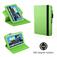 Exact (TM) 360 Degree Rotary Leather Case For Samsung Galaxy Note 10.1 Inch N8000 N8010 Tablet Green