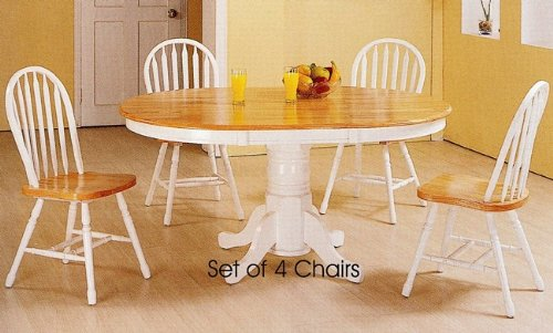 set of 4 natural white finish windsor dining side chairs chair sale