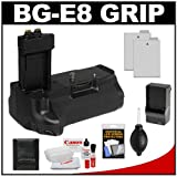 Vivitar BG-E8 Battery Grip for Canon EOS Rebel T2i, T3i & T4i Digital SLR Camera with Batteries + Accessory Kit