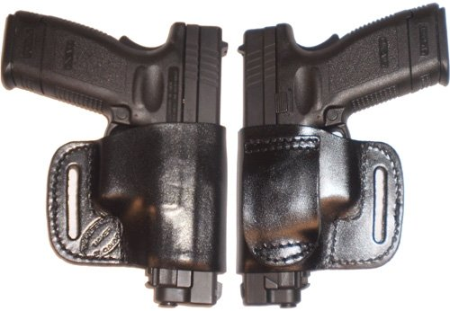 S&W 340PD Pro Carry Belt Ride Gun Holster Right Hand Black