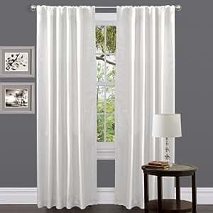 Amazon Lush Decor Venetian Curtain Panel White 54