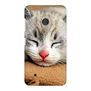 Impressive Sleeping Cat Multicolor Back Case Cover for Lumia 530