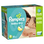Pampers Baby Dry Diapers Size 4 Econo...