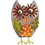Standing Metal Owl Decor