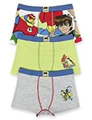 3 Pack Cotton Rich Ben 10&#8482; Assorted Trunks