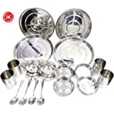 Jk Vallabhdas Silver Touch Pack Of 20 Dinner Set (Stainless Steel)