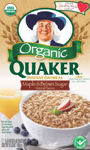 Quaker Instant Oatmeal Organic Maple and Brown Sugar