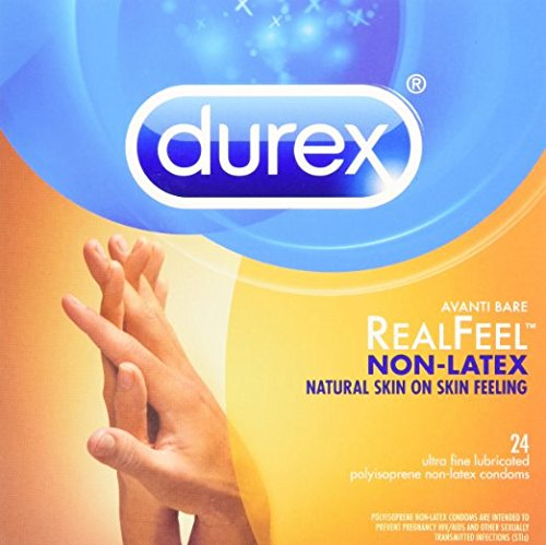 Durex Avanti Bare Real Feel NON-LATEX Polyisoprene Lubricated Condoms with Silver Pocket/Travel Case-24 Count