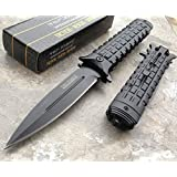 TAC FORCE Spring Assisted Opening BLACK Dagger Tactical Rescue Pocket Eco'Gift LIMITED EDITION Knife with Sharp Blade NEW!