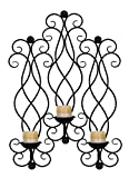 Deco 79 Metal Candle Sconce, 30 by 21-Inch