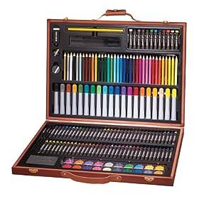 (超值)Art 101 173-Piece Wood Art Set 绘画工具173件套  $14.99